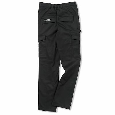 Sparco Cargo Multi Pocket Mechanic/Garage/Work/Rally Trousers/Pants In Black