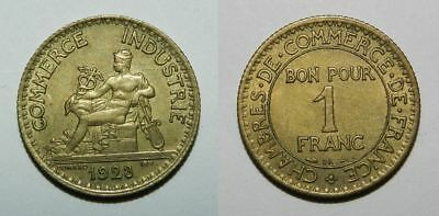 FRANCE :  1 FRANC 1923 - COMMERCE INDUSTRIE -  aEF NICE
