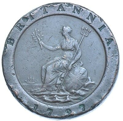 1797 Cartwheel Twopence Coin From George Iii Vf