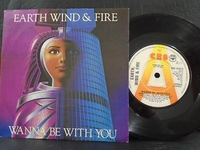 """EARTH,WIND & FIRE """" WANNA BE WITH YOU"""" UK C.B.S. PROMO MINT COND.IN Or.PIC SL."""