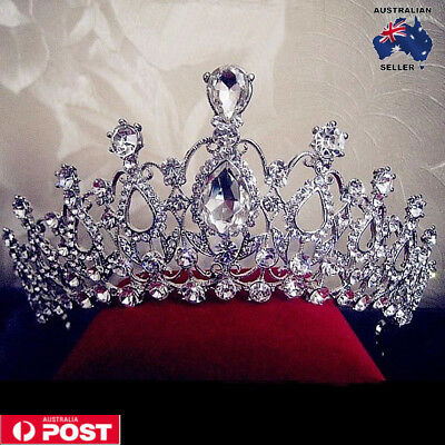 Crystal Tiara Wedding Bridal Bridesmaid Princess Headband Crown Party Headpieces