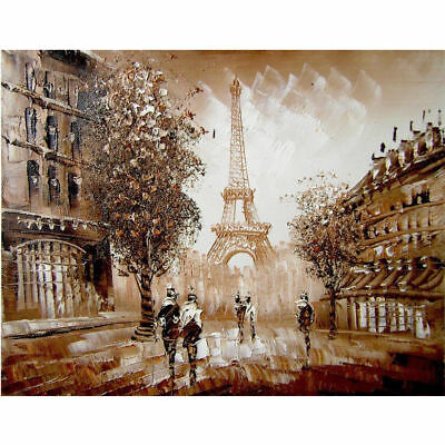 "Diamond Painting - Diamant Malerei - Stickerei - ""Paris"" - Set - Neu (752)"