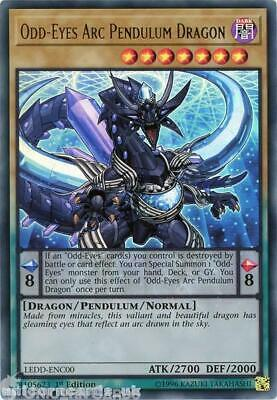 LEDD-ENC00 Odd-Eyes Arc Pendulum Dragon Ultra Rare 1st Edition Mint YuGiOh Card