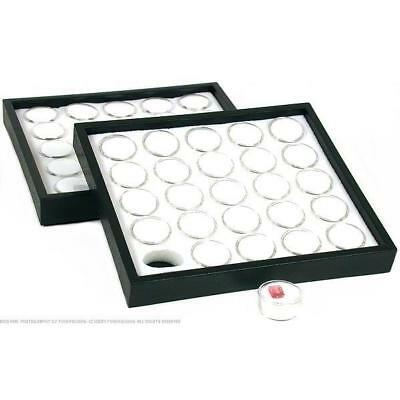 2 25 White Gem Jar Insert with Jewelry Display Tray