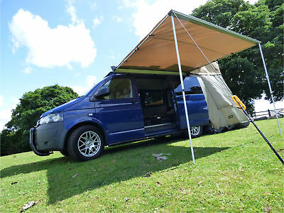 2.5m x 2m Pull-Out Awning Exterior Protecting Outdoor Camper Travel Shelter