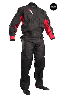2017/18 Gul Dartmouth Eclip Zip Junior Drysuit Black Red