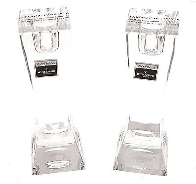 Glass Candlesticks Waterford Lead Crystal pair of candlesticks Boxed