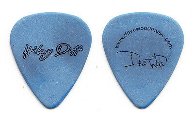 Hilary Duff Dave Wood Signature Concert-Used Blue Guitar Pick - 2007 Tour