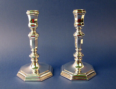 Antique Pair Sterling Silver Candlesticks Candle Holders 835 ARTEXBUDAPEST