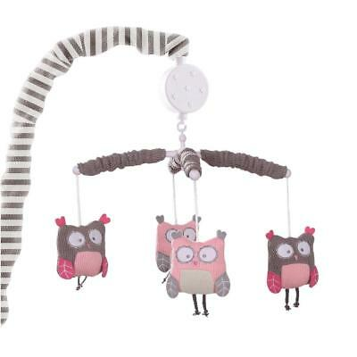 Levtex Baby Night Owl Pink Musical Mobile