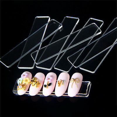 10pcs Nail Art Tool Tips Acrylic Holder Stand Display Practice Manicure Strip