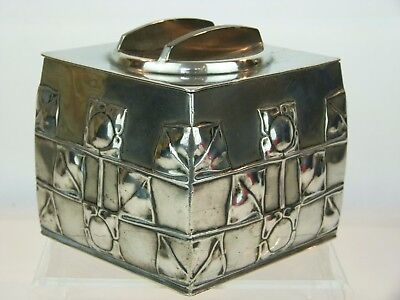 A Fine Liberty & Co Tudric Pewter Arts and Crafts Biscuit Box by Archibald Knox.