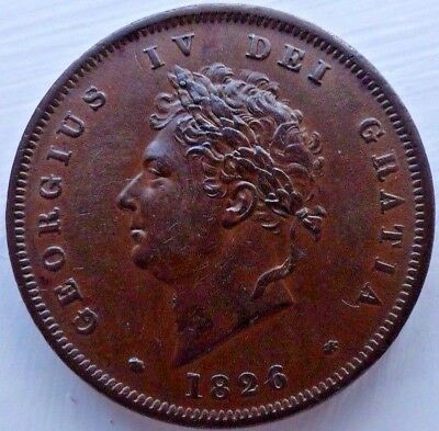 1826 George Iv Copper Penny Plain Saltire