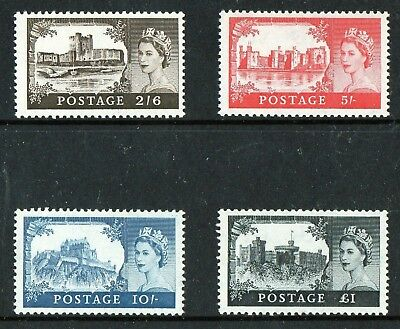 GB 1959 2nd DE LA RUE HIGH VALUES  SG 595-598  UNMOUNTED  FREE POSTAGE