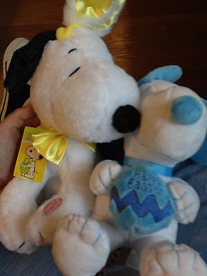 New With Tags Peanuts Musical Easter Snoopy And Dancing Snoopy And Free Shipping