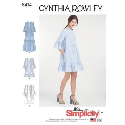 Simplicity Sewing Pattern Cynthia Rowley Dress In 3 Lengths Size Xs - Xl 8414
