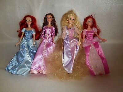 Disney  Dolls Bundle X 4 Ariel Belle Tangled Disney Dolls 12""