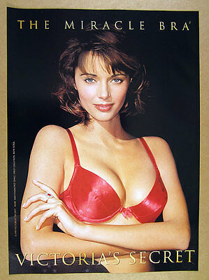 1995 Victoria's Secret 'The Miracle Bra' red bra photo vintage print Ad