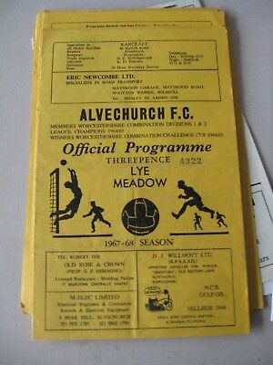 1968-69 Alvechurch v Alcester Worcestershire Junior cup 1st round
