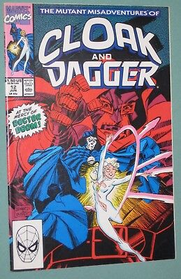 Mutant Misadventures of Cloak and Dagger #12 Marvel 1990 Dr Doom, Night, Mr Jip