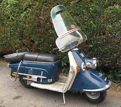 1961 Heinkel Tourist 103 A-2 Scooter. Very original with many period accessories