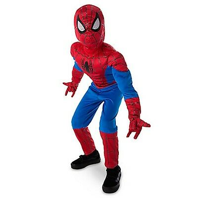 Boy ULTIMATE SPIDER MAN Costume w Lightup Web Projection Gloves Child XS Small 4