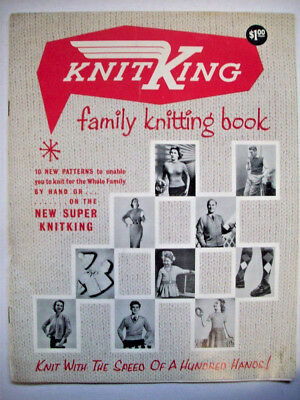 Vintage Knit King pattern booklet machine knitting KnitKing