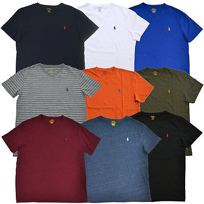 Polo Ralph Lauren V Neck T-shirt Mens Classic Fit Tee Pony Logo S M L Xl Xxl Nwt