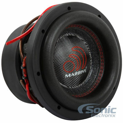 "MASSIVE AUDIO 1400W 8"" Dual 4 Ohm HIPPO XL SERIES Car Subwoofer 