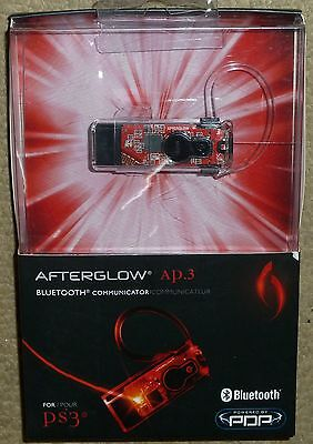 SONY PLAYSTATION 3 PS3 WIRELESS BLUETOOTH HEADSET MICROPHONE Afterglow BRAND NEW
