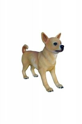 Dog Chihuahua Tan Standing Resin Statue Display Prop Decor