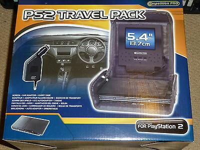 PLAYSTATION 2 PS2 SLIM PORTABLE 5.4 inch LCD SCREEN TRAVEL CASE CAR CHARGER NEW!