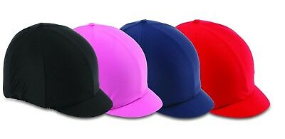Horse Riding Hat Cover - Stretch One Size - Navy - by Shires