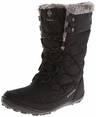 Columbia Womens Minx Mid II Omni-Heat Snow Boot Black Charcoal 1554031