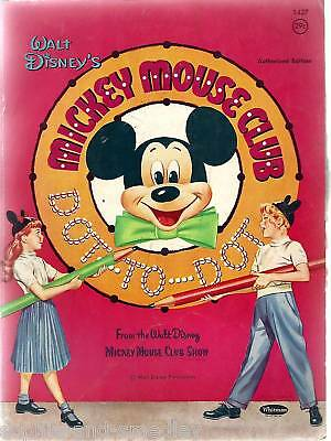 1957 Dot-To-Dot Book - Mickey Mouse Club