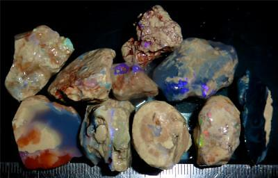200 Cts #430 Opal Rough And Rough Rubs From Lightning Ridge Australia