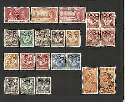 Northern Rhodesia (Zambia) ~ 1938-48 Small Collection King George Vi