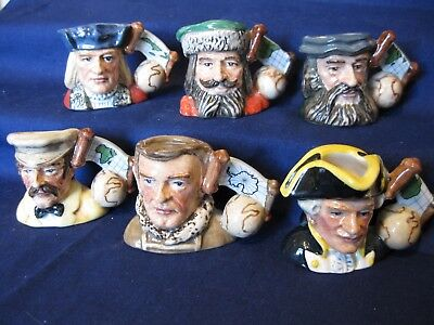 Royal Doulton Tiny Toby Set of 6 Explorers Columbus, Cook, Polo Collection MINT
