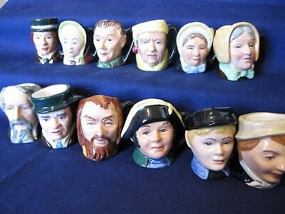 Royal Doulton Tiny Toby Set of 12 Dickens Characters Collection MINT