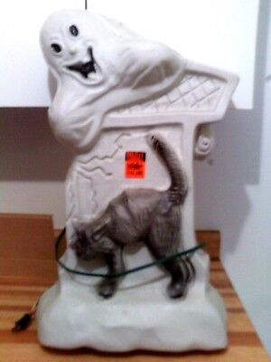 Blow mould yard decor Halloween Ghost lights up plug in