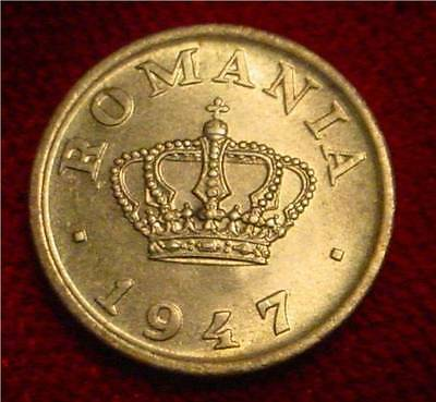 **scarce**hi Grade Unc 1947 50 Bani Romania*** Superb Detailed Coin