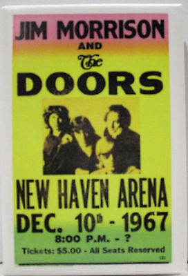 "Jim Morrison And The Doors Dec. 10 1967 New Haven Arena 2""x3"" Magnet New"