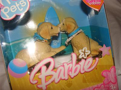 New In Box 2005 Barbie I Love Pets Bobble Head Dogs~Free Us Ship