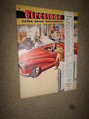 1946 Firestone Merchandise Catalog Champion Tires-Spark Plugs-Batteries-Sweepers