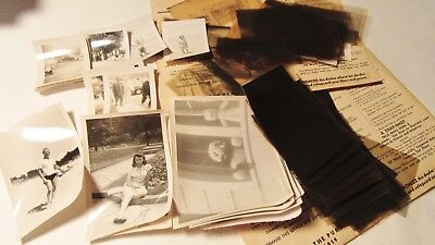 Vintage Lot Of Photographs & Negatives 1950's Chicago Family Beach, Car, Museum