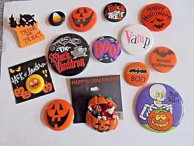 Lot of Vintage to Modern Halloween Pins and Pinback Buttons