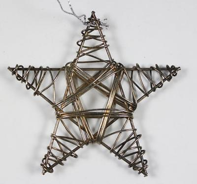 Silver-Tone Rustic Wrapped Wire Star Holiday Tree Ornament
