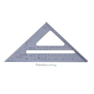 """7"""" Metric Roofing Rafter Speed Square Triangle Ruler Protractor Miter Framing"""
