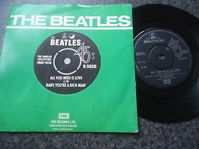 The Beatles Uk Emi Parlophone 45 All You Need Is Love Excellent