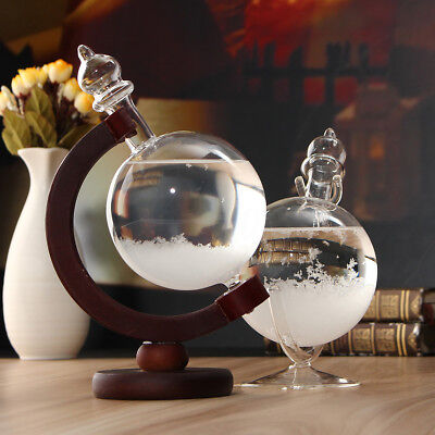 Christmas Gift Weather Forecast Storm Glass Crystal Drops Globe Shape Home Decor
